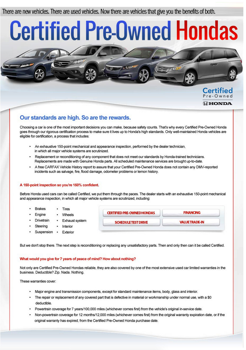 Honda Certified Used Cars >> Why Buy Honda Certified Honda Dealer Serving Murfreesboro Tn