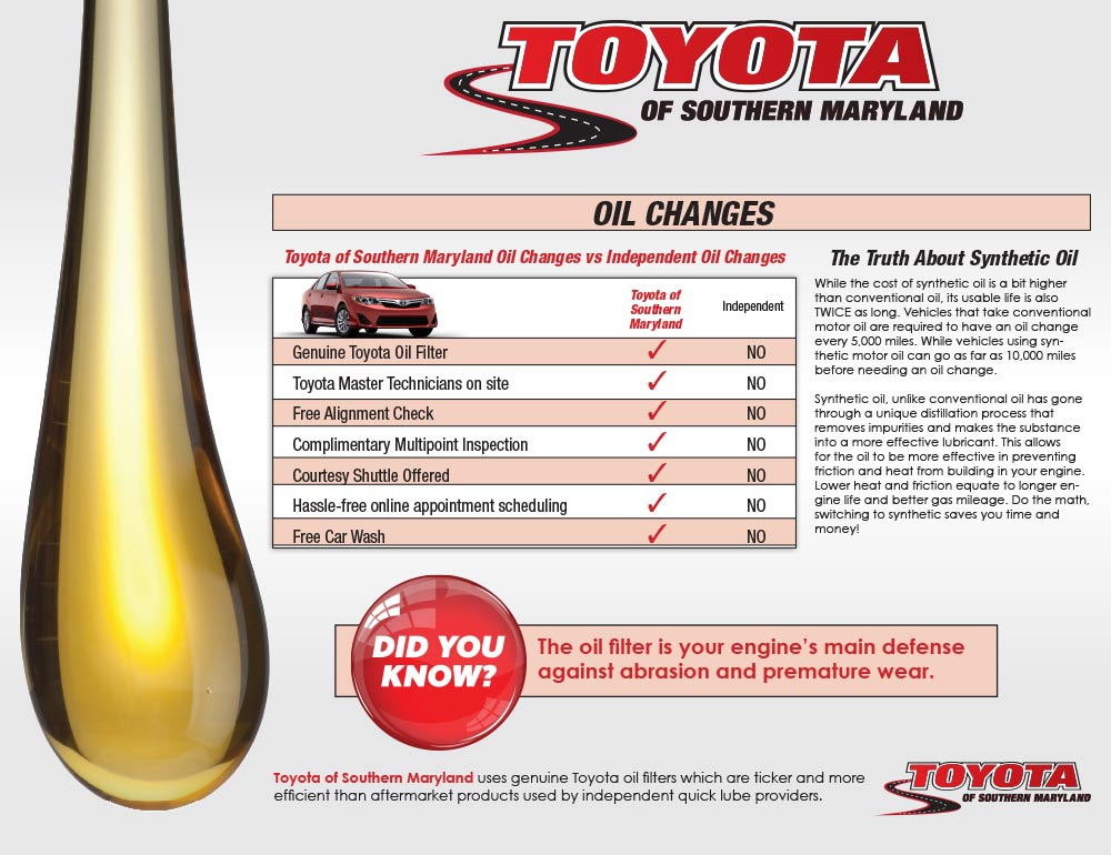 Oil Change deals in Maryland: 50 to 90% off deals in Maryland. All-Wheel Alignment Package with Optional Tire Rotation at Sears Auto Center (Up to 38% Off). Conventional, Synthetic Blend, or Full Synthetic Oil Change at Valvoline Instant Oil Change (50% Off). Oil Change with Tire Rotation at Jiffy Lube (Up to 55% Off).