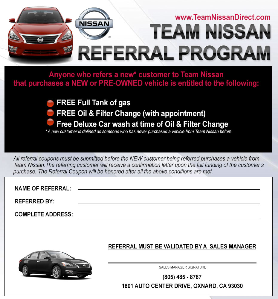 Programa De Referencia Team Nissan Dealership
