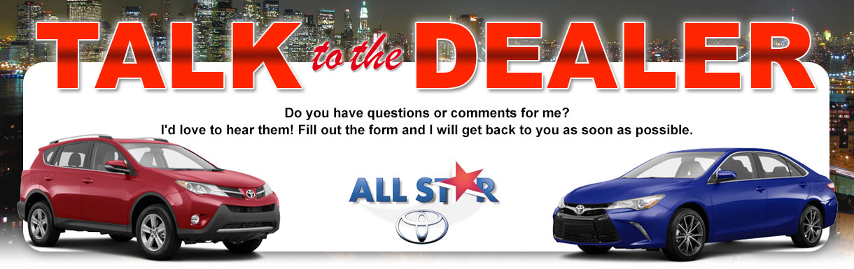 Talk to the dealer at All Star Toyota