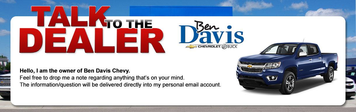 Talk to the Dealer at Ben Davis Chevrolet