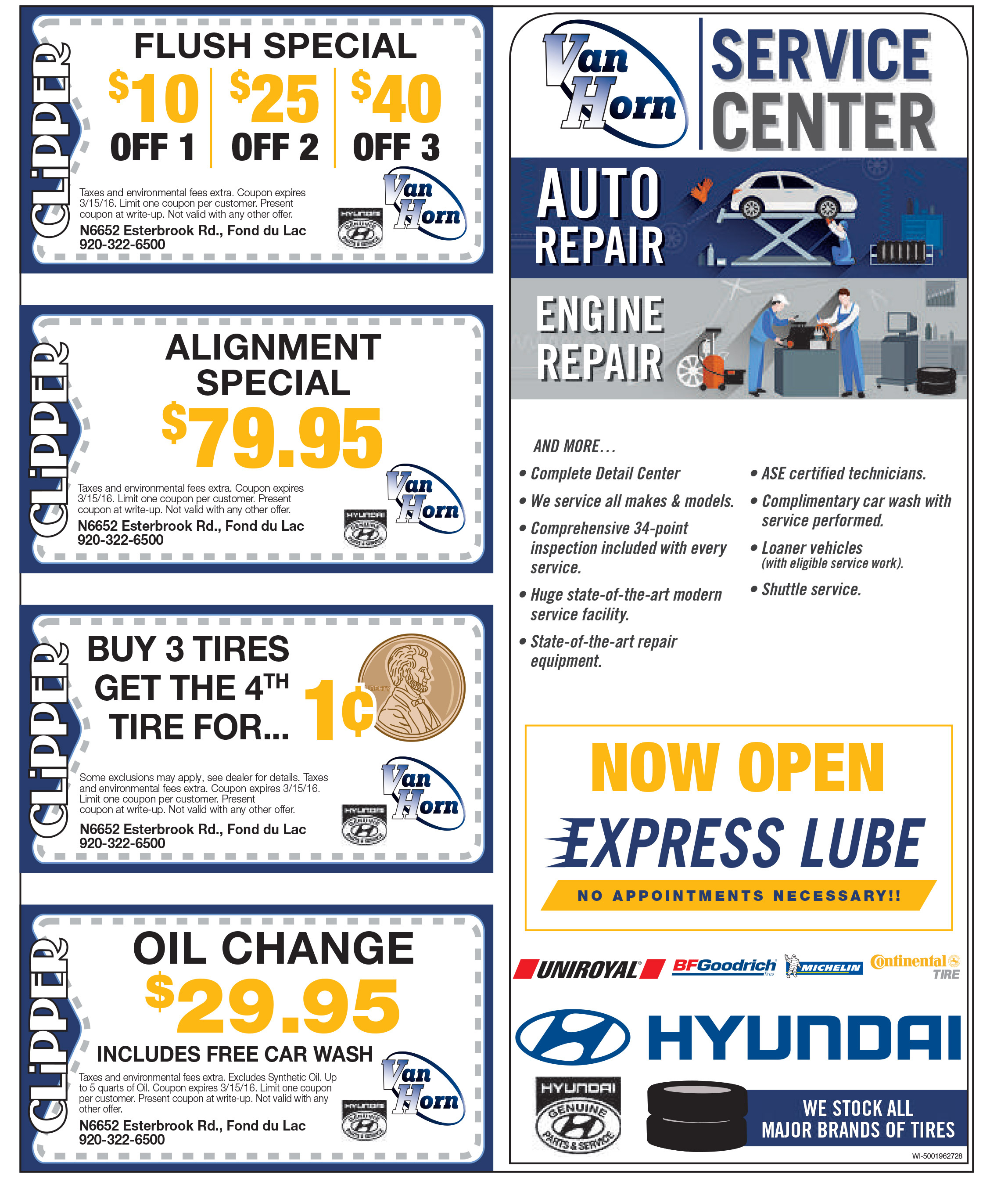 Hyundai Maintenance Schedule Service Amp Parts Specials Van Horn Hyundai Of Fon Du Lac