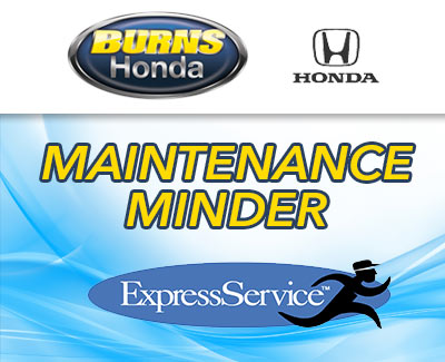 Burns Honda Service Maintenence Minder