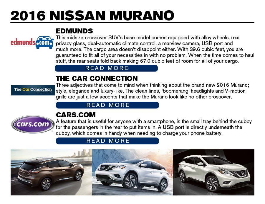 2016 nissan murano review. Black Bedroom Furniture Sets. Home Design Ideas