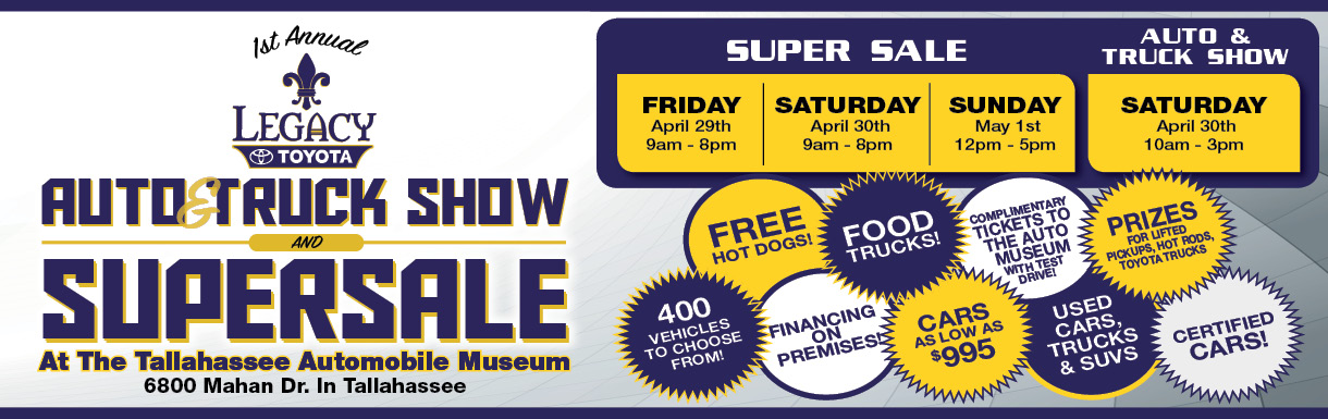 Super Sale and Car Show Banner