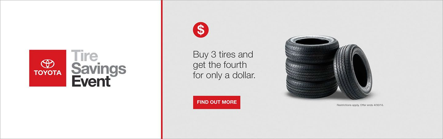 REQUIRED - April Tire Savings Event