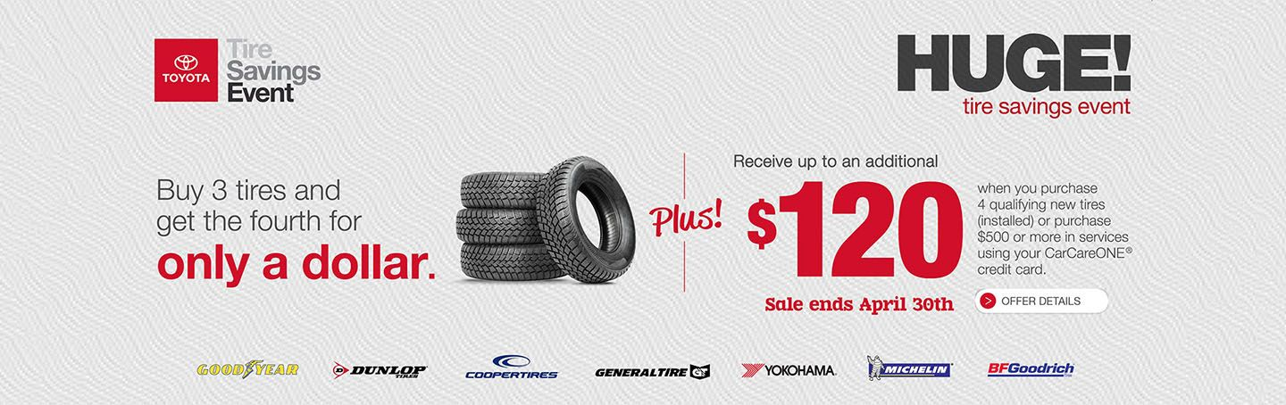 SET - OPTIONAL - April Tire Savings Event Plus $120