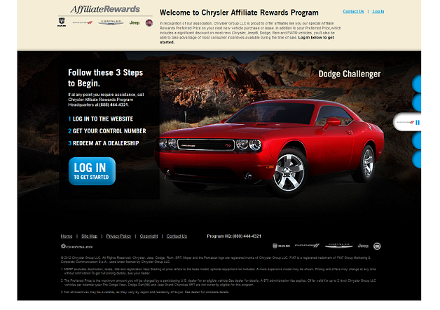 Chrysler Affiliate Rewards Program McLarty Daniel CDJR - Chrysler affiliates list