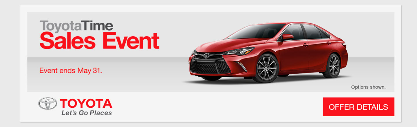 "Optional for SET – Required Campaign – ""ToyotaTime Sales Event"""