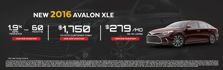 2016 Avalon XLE