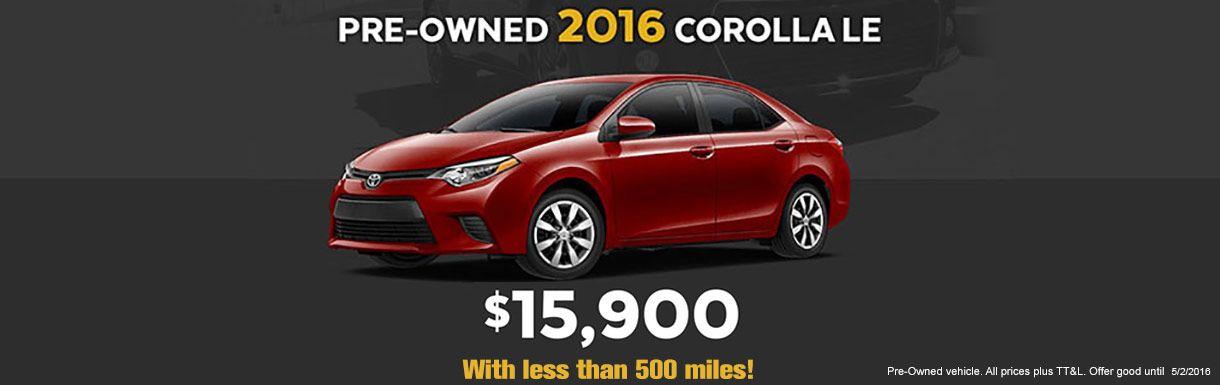2016 Corolla LE Used