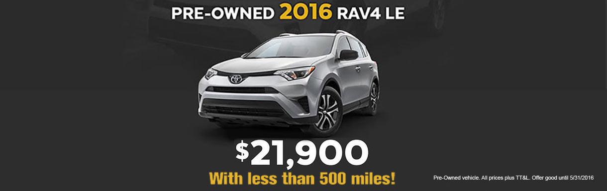 2016 Rav4 LE used