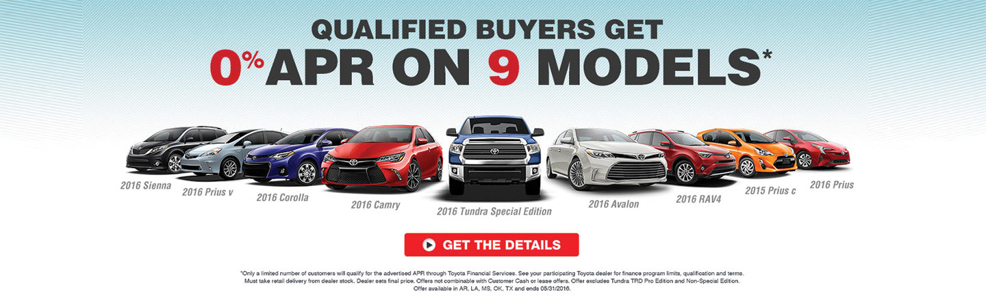 GST - OPTIONAL - ToyotaTime Sales Event 9 MODELS APR