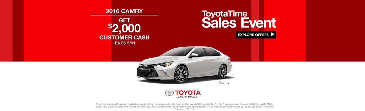 NY - REQUIRED - ToyotaTime Camry Customer Cash