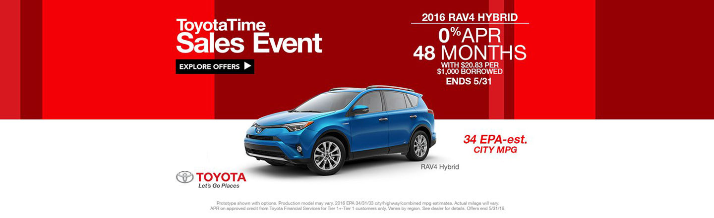 NY - REQUIRED - ToyotaTime RAV4 Customer Cash