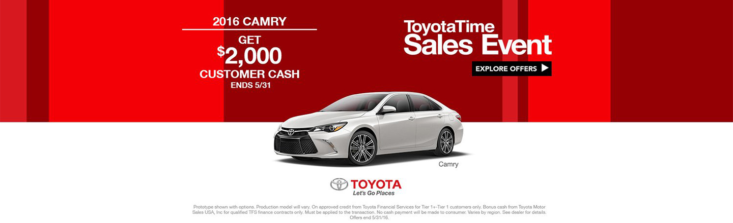 REQUIRED - NY - ToyotaTime Camry APR