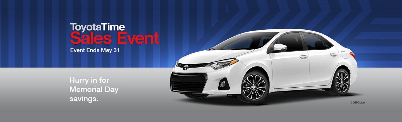 "SET – Optional Campaign – ""ToyotaTime Memorial Day Savings Corolla"""