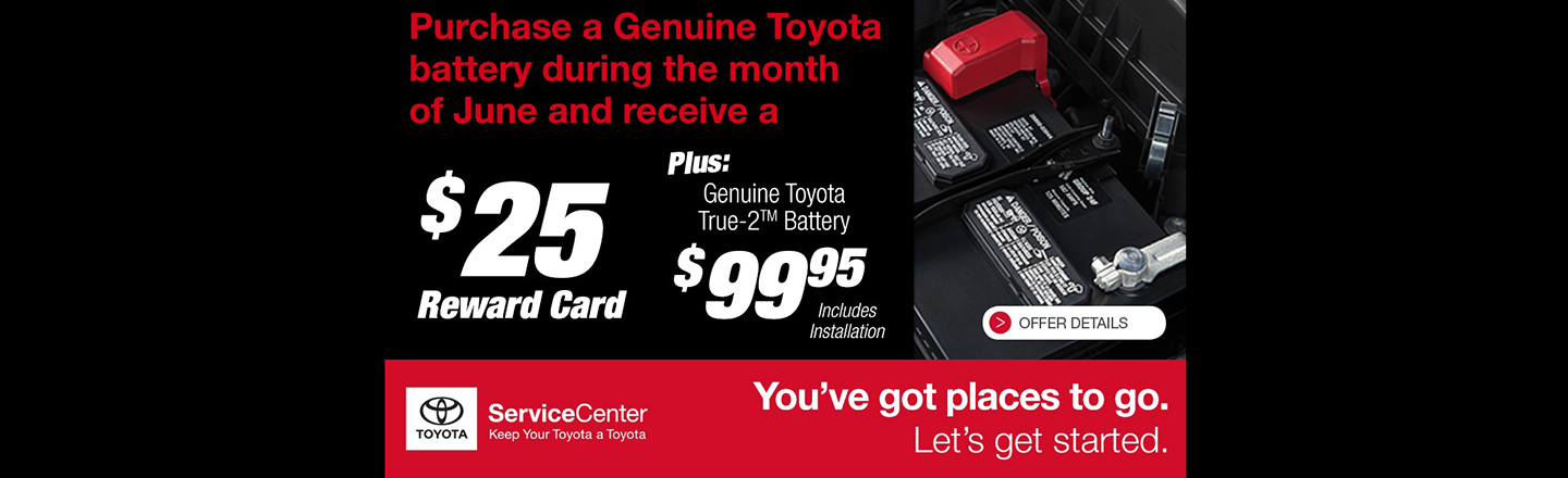 SET - REQUIRED - Genuine Toyota Battery Promo Plus