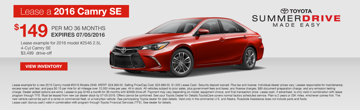 Lease Camry SE 2016