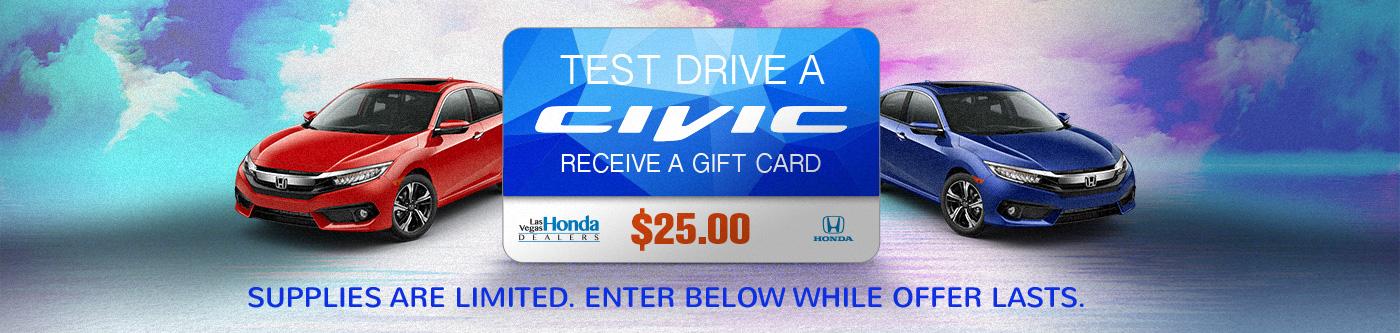 civic test drive gift card. Black Bedroom Furniture Sets. Home Design Ideas