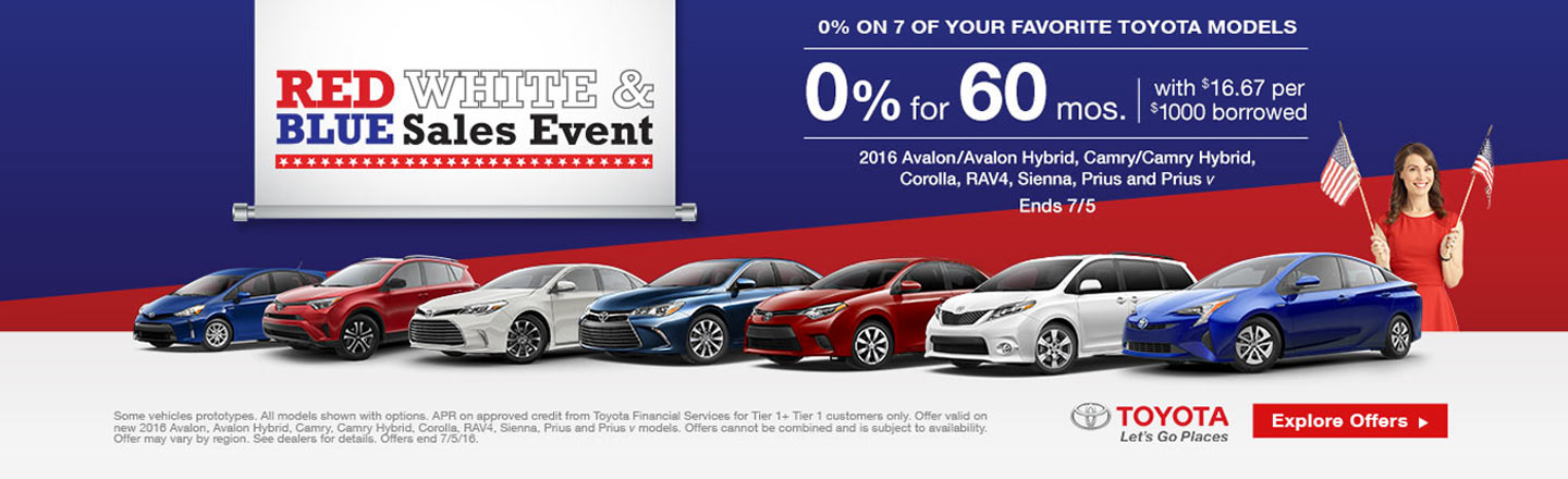 """NYR – Required Campaign – """"July 4th 0% on 7 Models"""""""