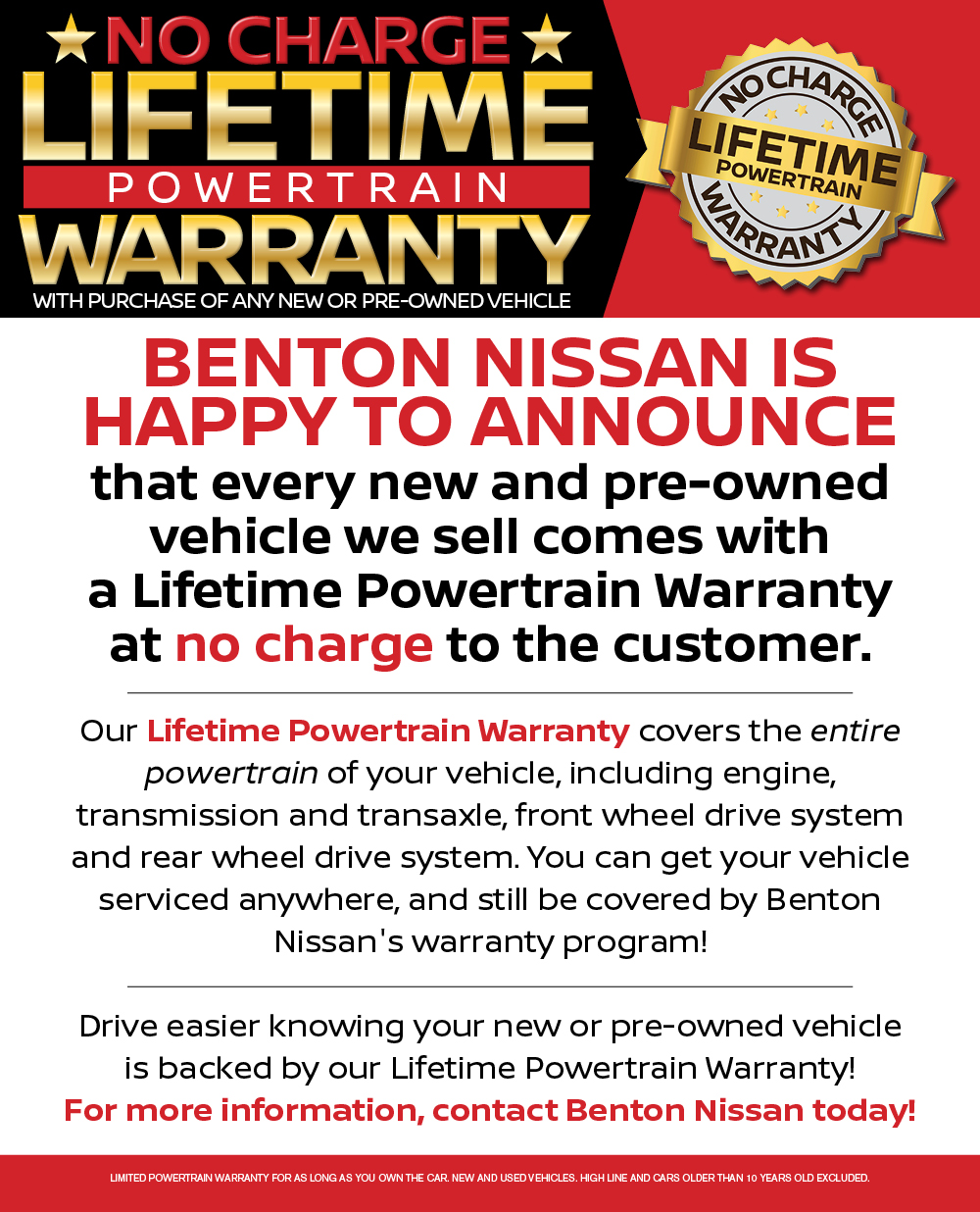 What Is Powertrain Warranty >> Lifetime Powertrain Warranty
