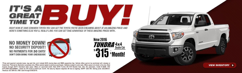 Buy 2016 Tundra