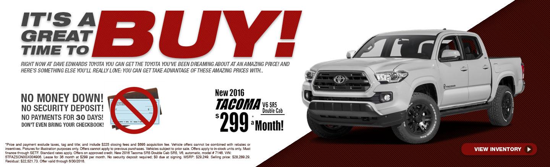Buy 2016 Tacoma