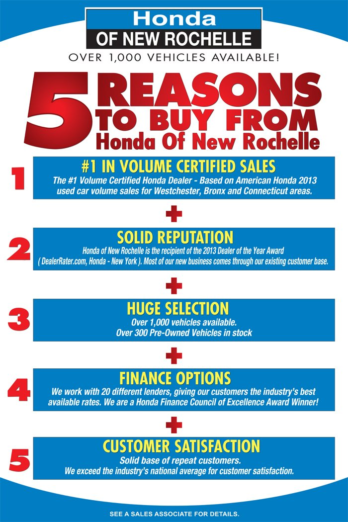 Used cars new rochelle ny for Honda roadside phone number