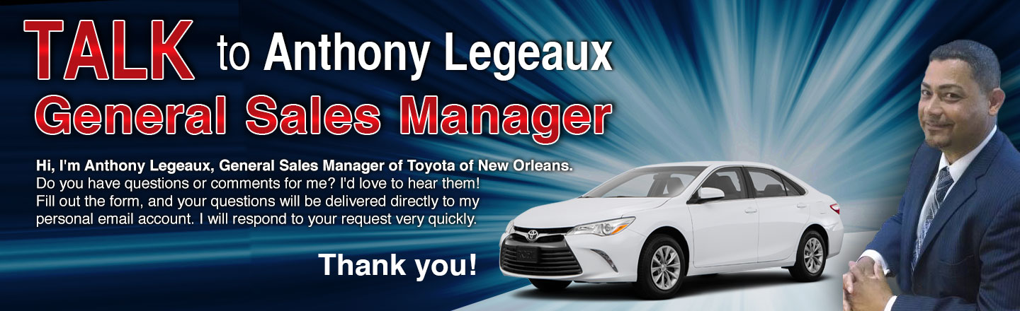 Toyota Of New Orleans >> Talk To The Dealer Toyota Of New Orleans