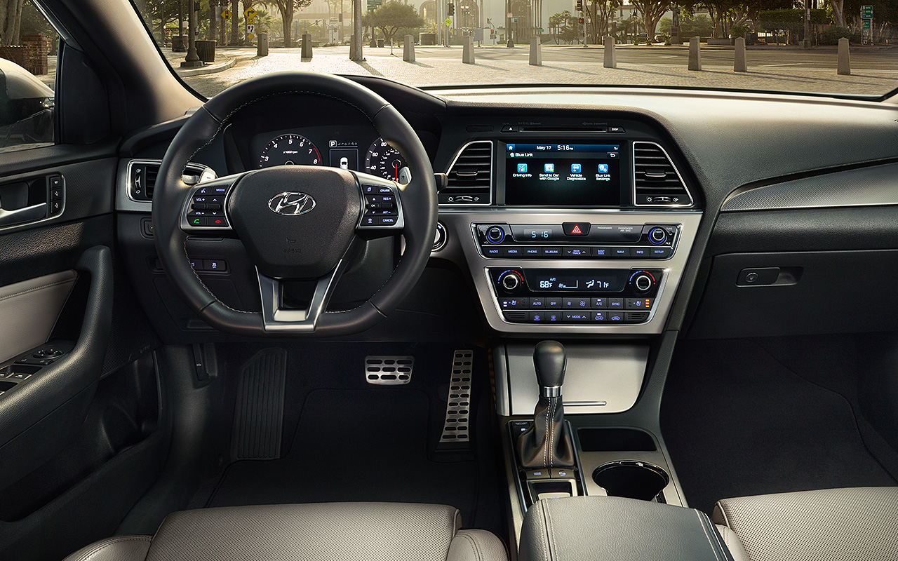 Interior View Of 2017 Hyundai Sonata in Tracy