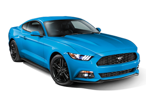 Blue 2017 Ford Mustang