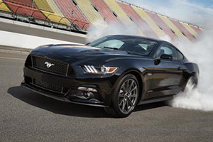 2017 Ford Mustang Black Performance Speed