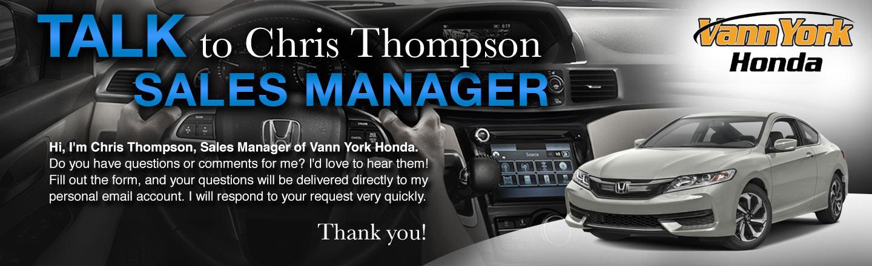 Talk to the Dealer | Vann York Honda