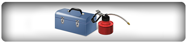 Toolbox and oil can