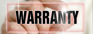 hand pinching the word Warranty