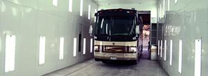RV in lit trailer