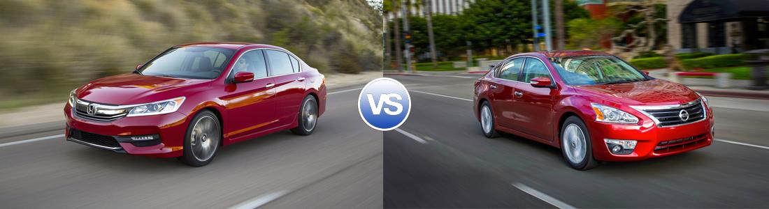 Compare 2016 Honda Accord Vs Nissan Altima