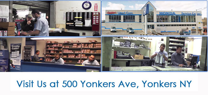 Honda Parts Department At Yonkers Honda, NY.