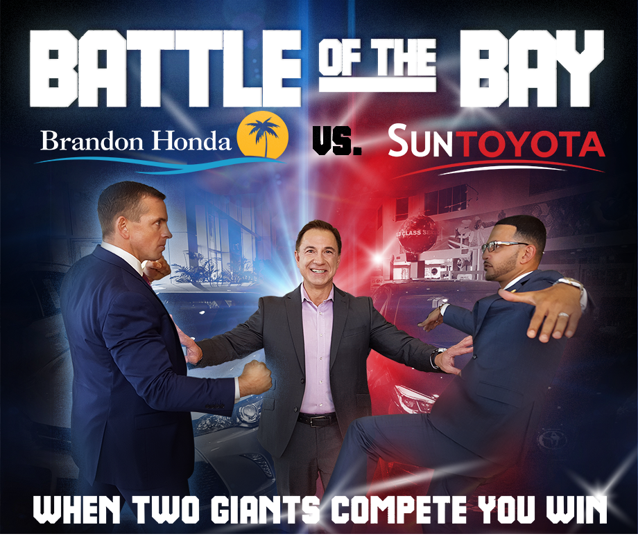 BATTLE of the BAY pits Brandon Honda against Sun Toyota! Who will sell the most cars?