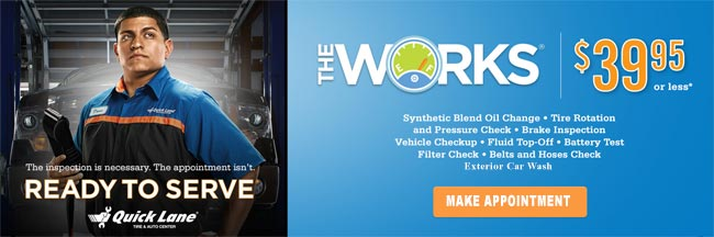 Lakeland Ford Quick Lane® The Works Special $39.95