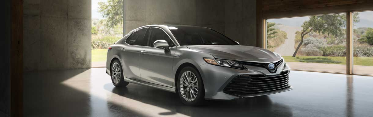 2018 Toyota Camry grey at Sun Toyota