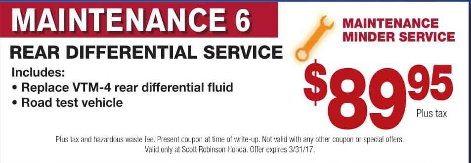 Scott robinson honda service coupons