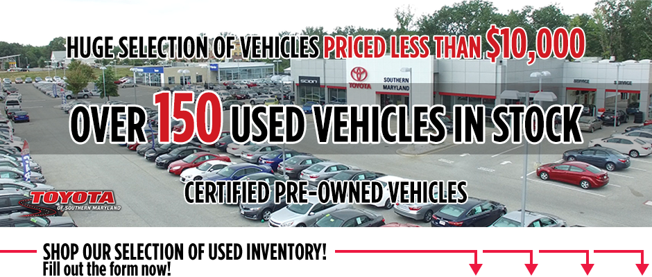 Toyota Of Southern Maryland >> Cheap Used Cars In Maryland Toyota Of Southern Maryland