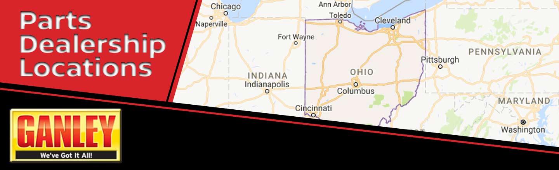 Parts dealership locations for Ganley mercedes benz akron ohio