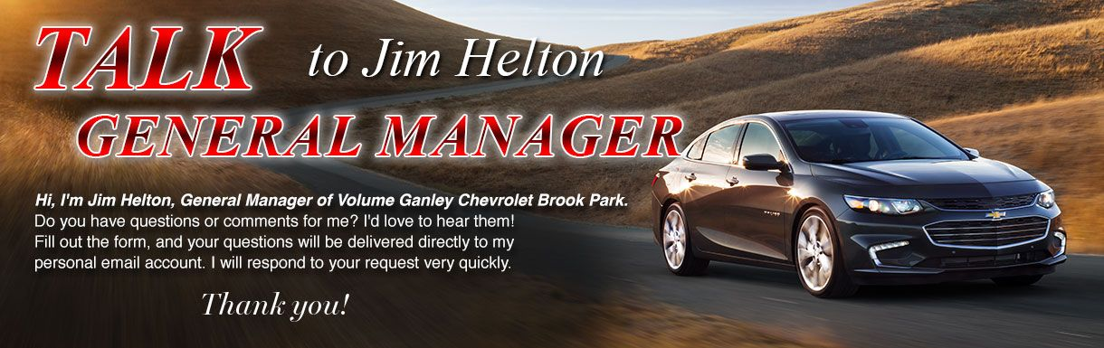 Talk to the Dealer | Ganley Chevrolet Brook Park