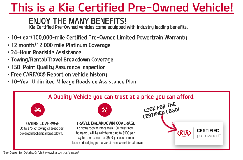 Certified Pre-Owned Kia Program