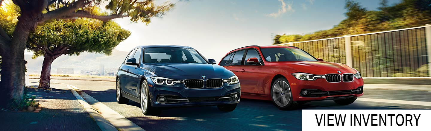 2017 BMW 3-Series Sedan 3 models driving fast