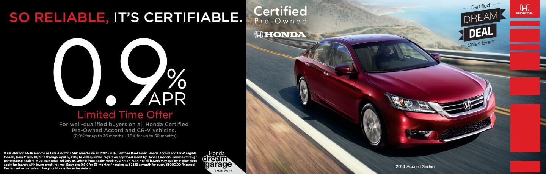 Honda Certified Pre-Owned Vehicles