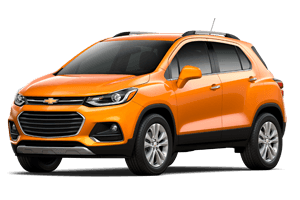 2017 Chevrolet Trax Orange exterior with Gray Interior